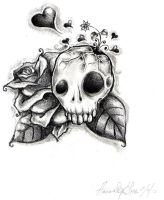 Skull tattoo by ineffablecreations