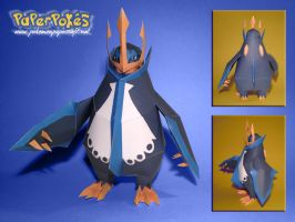 Empoleon Papercraft by Lyrin-83