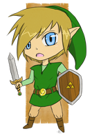 Link Chibi by AoNoPrincess