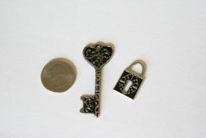 Fancy Key and Lock Charms by MonsterBrandCrafts