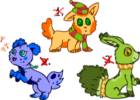 Creatures Adoptables CLOSED by Cora-Rosemountain