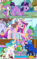Spike gets ALL the Princesses in Season 5 by titanium-pony