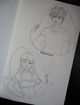 Facebook request drawings - draw your oc ( part 2) by GR-the-queen