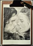 Jon Snow and Ygritte - Ice and Fire by Gigi-Avila