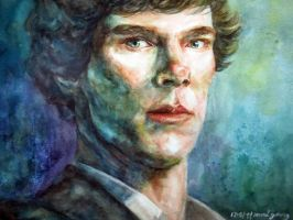 Sherlock watercolour by malgang