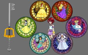PrincessStainedGlass Wallpaper by Akili-Amethyst