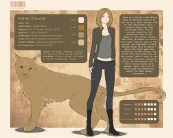 Character Sheet - Nora Chase by LittleMissWiseass