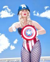 Captain America Bunny by LoveLoveLace