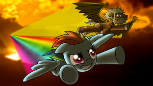 Commission: Rainbow Dash and Grit by Atomic-Chinchilla