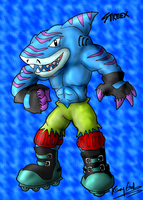 Street Sharks Collab-Streex by KrazyGal
