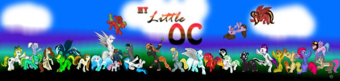 My Little OC crowd of awesomeness by Cicklefron