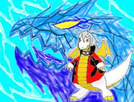 White Dragon of Blue Flames by SonicAsura