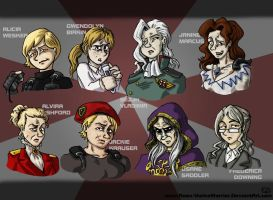 RE Genderbent Evil Girls by Raax-theIceWarrior