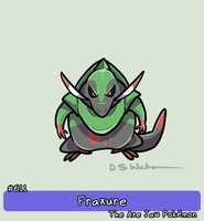 611 - Fraxure - The Axe Jaw Pokemon