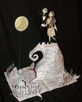 The Nightmare Before Christmas Book Sculpture by wetcanvas