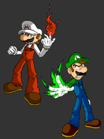 -Pixeltendo: Mario and Luigi- by busted-pc