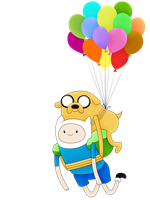 adventure time finn and jake ballons fly by andyeahFTW