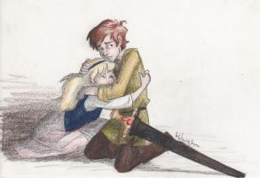 Taran and Eilonwy by burdge