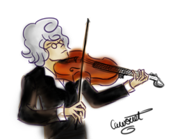 Violonist by Cawouet