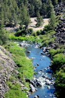 A Staight Part of the Crooked River by MogieG123