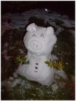 Snow Pig by hinn888