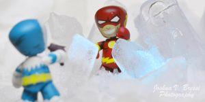 Flash vs Captain Cold by Jbressi