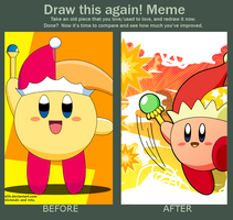 Do it Again Meme - Beam Kirby by riodile