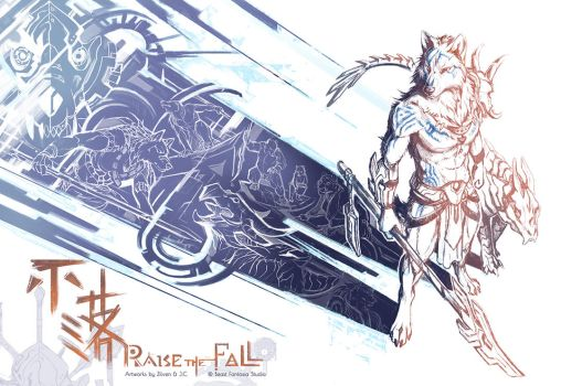 Raise The Fall - concept sketch book by J-C