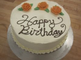 Birthday cake with roses by recycledrapunzel