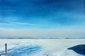 Blue Sky Winter by NancyvandenBoom
