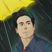 HIMYM: Yellow Umbrella by darthfilart