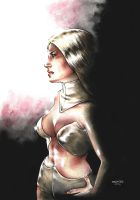 Emma frost in the shadows by Drumond
