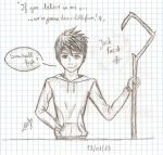 Sketch - Jack Frost in school by Tolina
