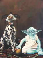 Yoda and a Salacious Dalmation by wytrab8