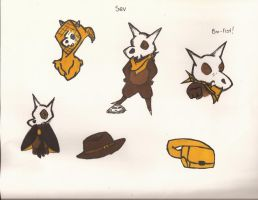 Sev the Cubone character and items by OneOfLifesMysteries