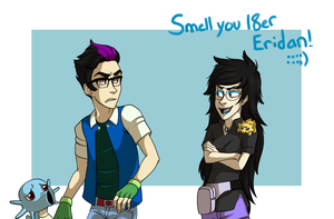 Eridan ketchum and Vriska Oak by Zorn-Sable