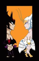 Devilman and Sirenu II by ShampooNeko