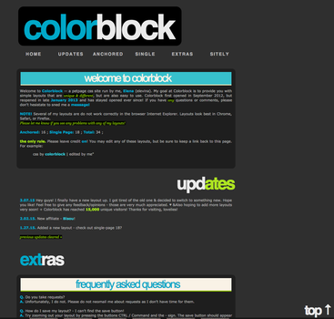 Colorblock v6? Blue +Green by elenahboo