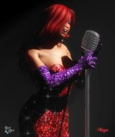 Maya Cosplay: Jessica Rabbit by Axel-Doi