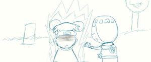 Lee and a pissed off Tenten by PokemonBWishesCilan