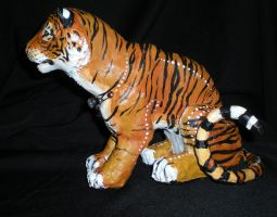 Commissioned Tiger Sculpt by Shadowind