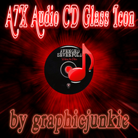 A7X Audio CD Glass Icon by graphicjunkie