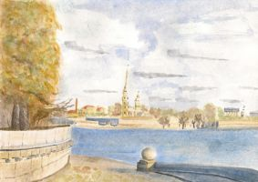 saint-petersburg in watercolour by noits