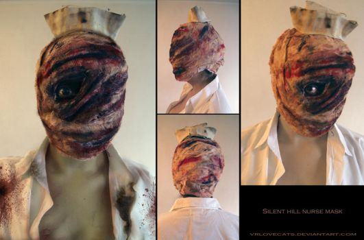 Silent Hill Nurse Mask by vrlovecats