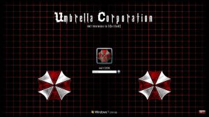 Windows 7 - Umbrella Corp.  logon background by red-CODE