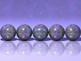 Penrose Tiled Spheres by parrotdolphin