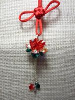 Red Lotus with Chinese Knot by taichiorange