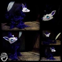 Handmade OOAK Poseable Feather Fox by SonsationalCreations