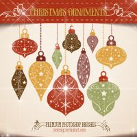 Christmas Ornaments Premium Brush Set by Romenig