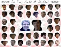 The Many Faces of Johnlock by FantasticalMe
